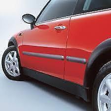 DP1/47mm BLACK Car Body Door Protector Moulding Strips+ ends fits CITROEN