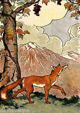 Fox Mountain landscape 9 x 12 inch needlepoint canvas
