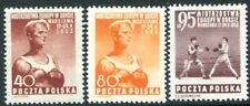 POLAND-1953 Boxing Championship Set of 3  Sg 809-811 LIGHTLY MOUNTED MINT V32105