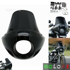 RWD Cafe Style Long Fairing /& Mount Hardware for 2006-17 Harley Dyna FXD