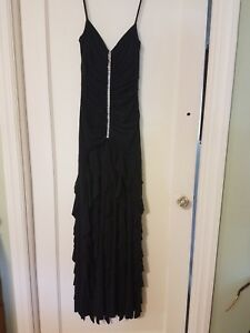 WOMENS SCOTT MCCLINTOCK SIZE 4 POLYESTER STYLISH FORMAL BALL PROM DRESS GOWN
