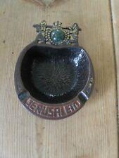 Vintage brass Jerusalem ashtray. Circa 1960