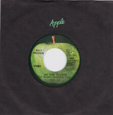 "Billy Preston ""All That I've Got"" & ""As I Get Older""  Apple 1817  NM Condition"