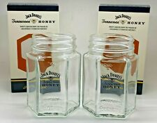 More details for pair of jack daniels tennessee honey mason jars - glass whiskey pub bar 2 two