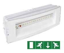 3hr Emergency DEL cloison maintenue/non entretenus Plafonnier + signes EML02