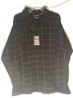 ROUNDTREE & YORKE~ Men's Size 2XT LONG SLEEVE POLO - Rugby SHIRT