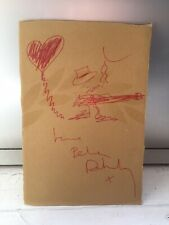 Pete Doherty Signed And Hand Drawn Self Portrait The Libertines Fred Perry Box
