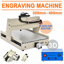 110V 4 AXIS 3040 Engraver CNC Router Engraving Drilling Milling Machine Desktop