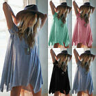 New Women Casual Long Sleeve Tunic V Neck Loose Tops Tee Sexy T-Shirt Blouse