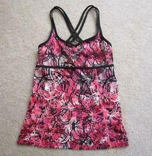 Champion Women's black pink strappy bra top S yoga tennis dance running cycle