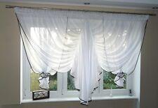 Prêt À L'emploi Rideau De Fenêtre Voile Filet 150 x 400 cm Marron AG16 Art Déco