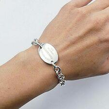 "Tiffany & Co.  7.5 "" Please Return To Oval Tag  Bracelet ,  Best Seller !"