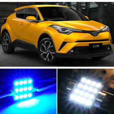 Premium Blue LED Lights Interior Package Kit for 2018 Toyota C-HR CHR + Tool
