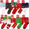 Christmas Women Santa Claus Elk Stocking Socks Soft Warm Xmas Girl Gift Festive