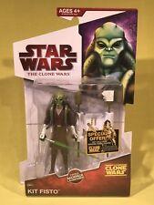 Hasbro Star Wars The Clone Wars KIT FISTO CW05 w/ launcher MOC Figure