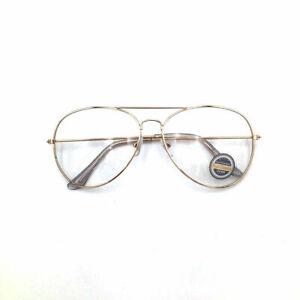 Clear Lens Aviator Glasses Fashion Sunglasses Mens Women Retro Unisex