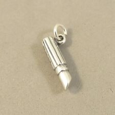 .925 Sterling Silver 3-D LIPSTICK CHARM Beauty Tube Make-up Artist NEW 925 DU74