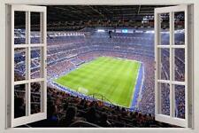 Santiago Bernabeu Stad Real Madrid 3D Ventana Calcomanía Pared Adhesivo Mural de Arte H834