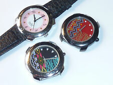 LOT 3 Watch MONTRE BENETTON by BULOVA uhr bezel VINTAGE