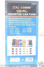 120 PC  ASSORTED FUSE SET ,  REGULAR SIZE, cars , trucks , suv