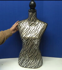 Vintage Retro Sequin Female Mannequin Torso