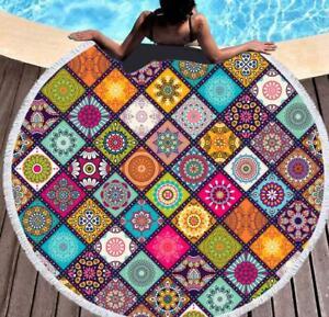 3D Square Pattern ZHU1303 Summer Plush Fleece Blanket Picnic Beach Towel Dry Zoe