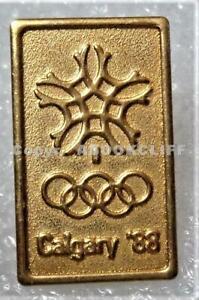 1988 CALGARY OLYMPICS GOLD RELIEF SNOWFLAKE METAL COA 1979 SMALL Lapel Pin