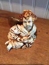 New 1996 Angelique Gentil Homme Angel Cherub Box Figurine Anjo Harmony Kingdom