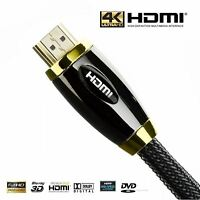 1M-40M Premium Braided Pro HDMI Cable v2.0a High Speed UltraHD 3D 4K Ethernet UK