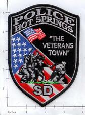South Dakota - Hot Springs SD Police Dept Patch The Veterans Town Military