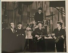 1964 8 x 10 B&W Photo of The Beatles with Ed Sullivan on the Ed Sullivan Show