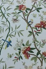 "GP & J BAKER CURTAIN FABRIC DESIGN ""Peony & Blossom"" 16 METRES SAGE/BEIGE"