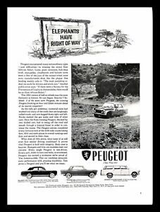 1964 Peugeot Classic Car Vintage PRINT AD East African Safari Rally Race