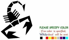 "Fiat Abarth Scorpion Logo Funny Vinyl Decal Sticker Car Window laptop tablet 10"""