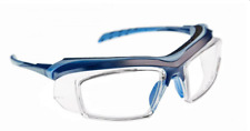 SAFETY FRAME ARMOURx 6008 Wrap Eyeglasses Frames Blue 59-19-114 NEW 0555