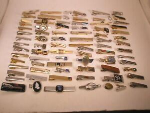 -80 LOT Vintage Tie Bar Clips swank hickok anson (80m)