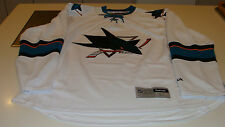San Jose Sharks White Road Away Jersey NHL Hockey Reebok NWT Adult XL Premier
