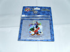 Disney * SORCERER MICKEY 4 PARKS * Pin Trading Lanyard Clip Fast Pass Pouch