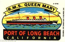 Travel Decal Image Queen Mary Long Beach CA  Refrigerator / Tool Box  Magnet