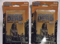 The walking dead comic trading cards set 2.  Two sealed blister packs!