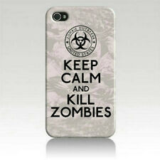 KEEP CALM AND KILL ZOMBIES Art Printed iPhone 5 5s Case for iPhone 5s