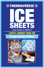 ThermaFreeze~Large Cooler pack~4 flexible Reusable Cooler 6x4 cell ICE Sheets