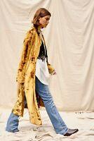 Back in stock !New Women's Free People Sienna Duster Velvet Jacket Coat L 298usd