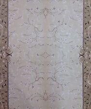 Special Silk - Indian Rug - Floral Design - Oriental Ivory Beige Carpet 4 x 6 ft
