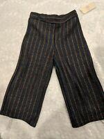 NWT GB Girls Flare Wide Pants Metallic Retro Fashion size 5T 6