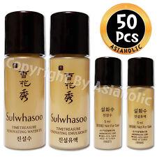 Sulwhasoo Timetreasure Renovating EX 5ml Water (25pcs) + Emulsion (25pcs) 50pcs