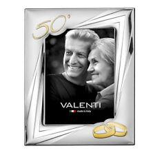 Cornice Argento Valenti Nozze Oro 50 Anniversario Matrimonio 13x18 cm + Specchio