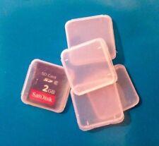 25 X estuches de plástico para tarjetas de memoria casos de tarjeta de memoria para tarjetas SD SDHC Sandisk