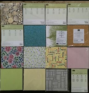 Stampin'Up! Retired 6 x 6 DESIGNER SERIES PAPER stacks, New, CHOICE