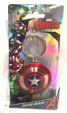 Marvel Captain America Shield Pewter Key Ring Keychain Keyring Monogram